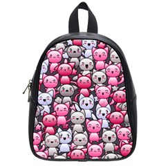 Cute Doodle Wallpaper Cute Kawaii Doodle Cats School Bags (small)