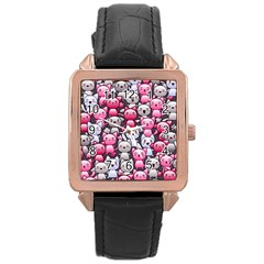 Cute Doodle Wallpaper Cute Kawaii Doodle Cats Rose Gold Leather Watch