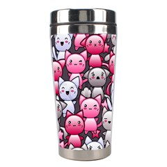 Cute Doodle Wallpaper Cute Kawaii Doodle Cats Stainless Steel Travel Tumblers