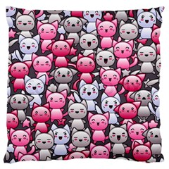 Cute Doodle Wallpaper Cute Kawaii Doodle Cats Standard Flano Cushion Case (two Sides)