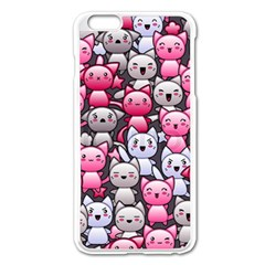Cute Doodle Wallpaper Cute Kawaii Doodle Cats Apple Iphone 6 Plus/6s Plus Enamel White Case