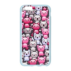 Cute Doodle Wallpaper Cute Kawaii Doodle Cats Apple Seamless iPhone 6/6S Case (Color)