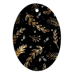 Kawaii Wallpaper Pattern Ornament (oval)
