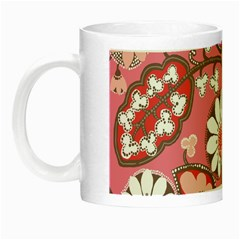 Pink Flower Pattern Night Luminous Mugs