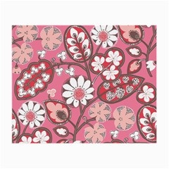 Pink Flower Pattern Small Glasses Cloth