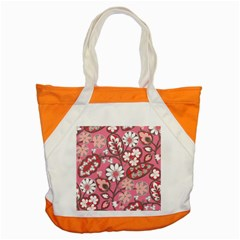 Pink Flower Pattern Accent Tote Bag