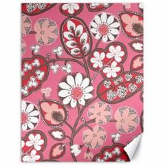 Pink Flower Pattern Canvas 18  x 24