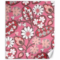 Pink Flower Pattern Canvas 20  X 24