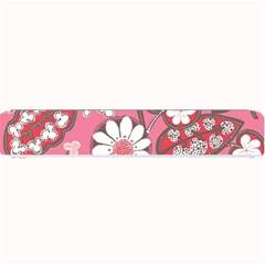 Pink Flower Pattern Small Bar Mats