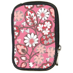 Pink Flower Pattern Compact Camera Cases