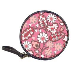 Pink Flower Pattern Classic 20 Cd Wallets
