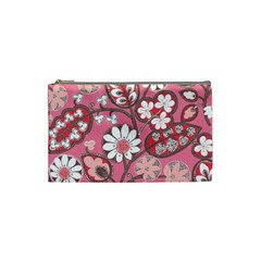 Pink Flower Pattern Cosmetic Bag (Small)