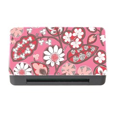 Pink Flower Pattern Memory Card Reader With Cf