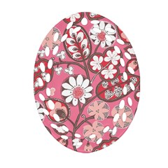 Pink Flower Pattern Ornament (oval Filigree)