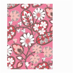 Pink Flower Pattern Small Garden Flag (Two Sides)