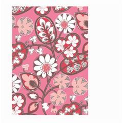 Pink Flower Pattern Large Garden Flag (Two Sides)