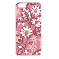 Pink Flower Pattern Apple iPhone 5 Seamless Case (White)