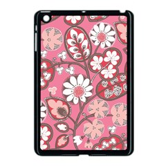 Pink Flower Pattern Apple Ipad Mini Case (black)