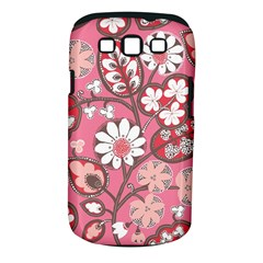 Pink Flower Pattern Samsung Galaxy S Iii Classic Hardshell Case (pc+silicone)