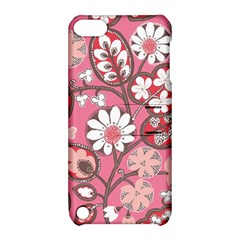 Pink Flower Pattern Apple Ipod Touch 5 Hardshell Case With Stand