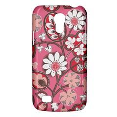 Pink Flower Pattern Galaxy S4 Mini