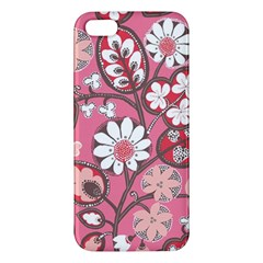 Pink Flower Pattern Iphone 5s/ Se Premium Hardshell Case