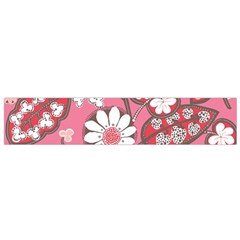 Pink Flower Pattern Flano Scarf (small)