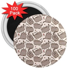Pusheen Wallpaper Computer Everyday Cute Pusheen 3  Magnets (100 pack)