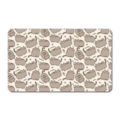 Pusheen Wallpaper Computer Everyday Cute Pusheen Magnet (rectangular)