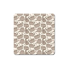 Pusheen Wallpaper Computer Everyday Cute Pusheen Square Magnet