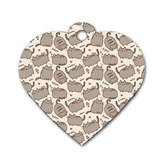 Pusheen Wallpaper Computer Everyday Cute Pusheen Dog Tag Heart (two Sides)