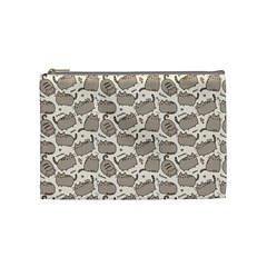 Pusheen Wallpaper Computer Everyday Cute Pusheen Cosmetic Bag (Medium)