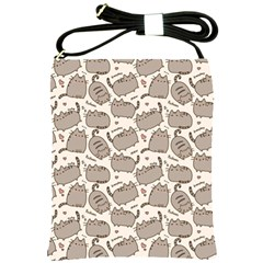 Pusheen Wallpaper Computer Everyday Cute Pusheen Shoulder Sling Bags