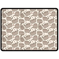 Pusheen Wallpaper Computer Everyday Cute Pusheen Fleece Blanket (large)