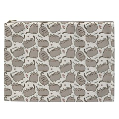 Pusheen Wallpaper Computer Everyday Cute Pusheen Cosmetic Bag (xxl)