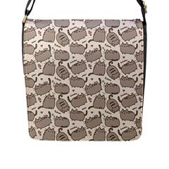 Pusheen Wallpaper Computer Everyday Cute Pusheen Flap Messenger Bag (l)