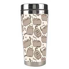 Pusheen Wallpaper Computer Everyday Cute Pusheen Stainless Steel Travel Tumblers