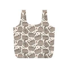 Pusheen Wallpaper Computer Everyday Cute Pusheen Full Print Recycle Bags (s)