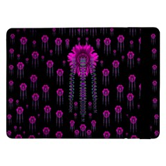 Wonderful Jungle Flowers In The Dark Samsung Galaxy Tab Pro 12 2  Flip Case