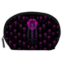 Wonderful Jungle Flowers In The Dark Accessory Pouches (large)