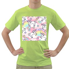 Unicorn Rainbow Green T Shirt