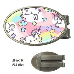 Unicorn Rainbow Money Clips (oval)