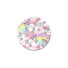 Unicorn Rainbow Golf Ball Marker (4 Pack)