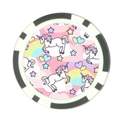 Unicorn Rainbow Poker Chip Card Guard