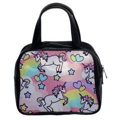 Unicorn Rainbow Classic Handbags (2 Sides)