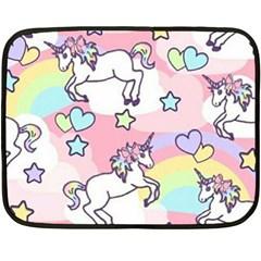 Unicorn Rainbow Double Sided Fleece Blanket (mini)