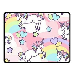 Unicorn Rainbow Fleece Blanket (Small)