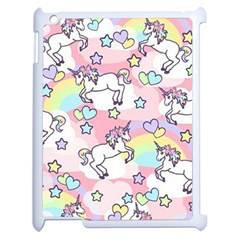 Unicorn Rainbow Apple Ipad 2 Case (white)