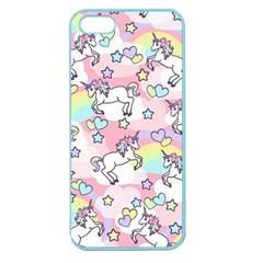 Unicorn Rainbow Apple Seamless iPhone 5 Case (Color)