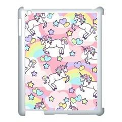 Unicorn Rainbow Apple Ipad 3/4 Case (white)